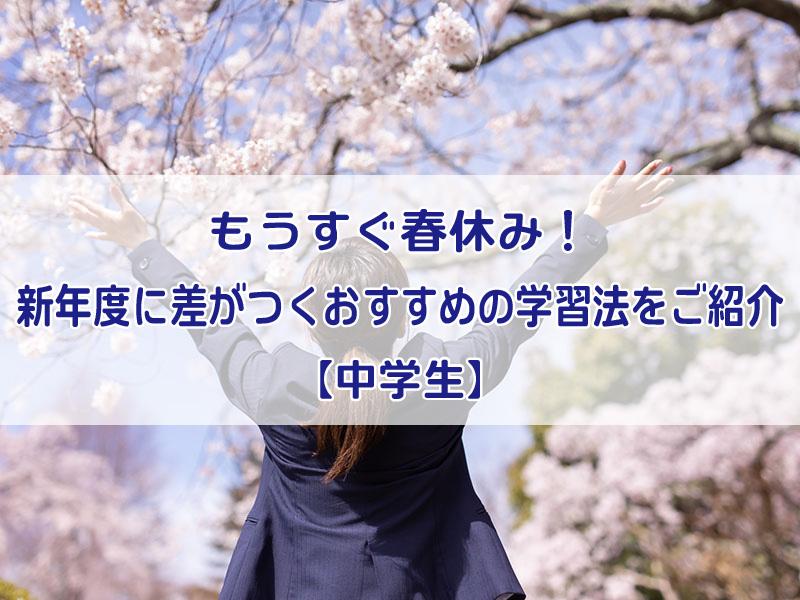 もうすぐ春休み!新年度に差がつくおすすめの学習法をご紹介【中学生 ...